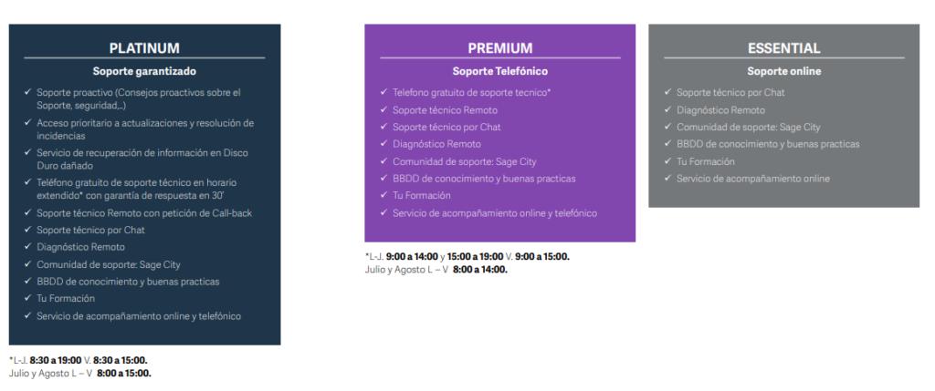 SERVICIOS-PLATINUM-ESSENTIAL-I-PREMIUM SAGE 200 ADVANCED